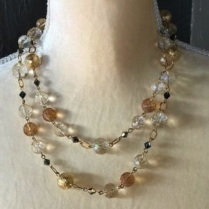 Jewelry - Crystal and beaded long necklace